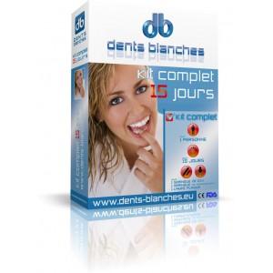 dents blanches produit pour blanchir les dents kit complet 15 jours. Black Bedroom Furniture Sets. Home Design Ideas